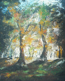 Untitled Forest Landscape 1965 Original Painting - William Kirkpatrick Vincent