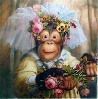 Cookie As a Pretend Bride Limited Edition Print - Donald Roller Wilson