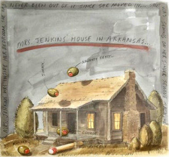 Mrs. Jenkins' House in Arkansas AP 1995 Limited Edition Print by Donald Roller Wilson