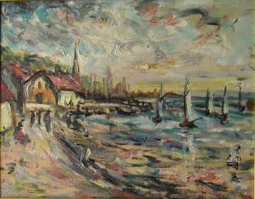 Paris Seashore 10x13 Original Painting - Wilson Silsby