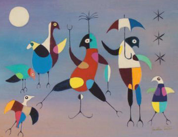 Umbrella Dancers 1970 Limited Edition Print by Jonathan Winters