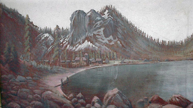 Glenbrook and Bay 1916 14x24 Original Painting by Jack Wisby