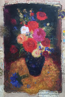 Floral Splendor 24x32 Original Painting - Tanya Wissotzky