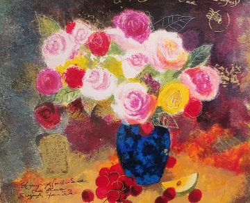 Still Life With Flower Bouquet Limited Edition Print - Tanya Wissotzky