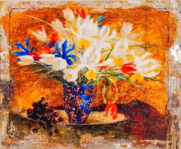 My Flower of Love Original 35x41 Huge Original Painting - Tanya Wissotzky