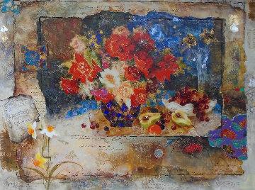 Halved Pears 61x50 Super Huge Original Painting - Tanya Wissotzky