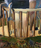 Untitled Legs 1971  71x59 Original Painting by Jerome Witkin - 0