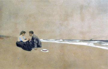 Untitiled Original Watercolor 1904 14x18 Watercolor - William Balfour Ker