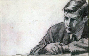Man Study 1985 Drawing by William Balfour Ker