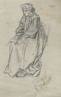 Woman Study 1904 Drawing - William Balfour Ker