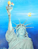 Woody Woodpecker And the Statue of Liberty 1985 22x26 Original Painting by Walter Lantz - 0