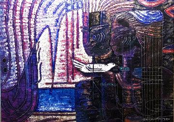 Small Promises 1990 34x40 Huge Original Painting - Adrian Wong Shue