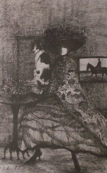 Woman in Brown 1990 Limited Edition Print by Barbara Wood