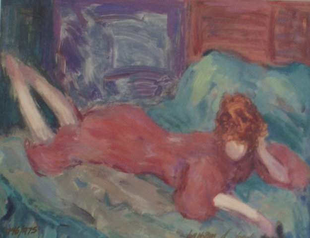 Relaxed Woman 1991 Limited Edition Print by Barbara Wood