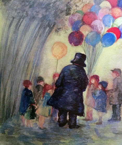 Balloon Man 2002 Limited Edition Print by Barbara Wood