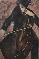 Cellist 2003 Limited Edition Print by Barbara Wood - 1