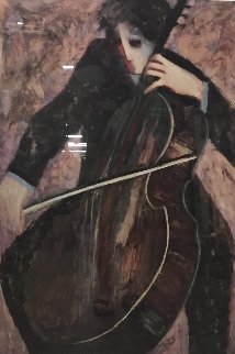 Cellist 2003 Limited Edition Print by Barbara Wood