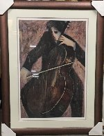 Cellist 2003 Limited Edition Print by Barbara Wood - 2