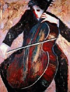 Cellist 2003 Limited Edition Print - Barbara Wood