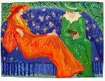 Orange Dress AP Limited Edition Print - Barbara Wood