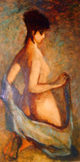 Untitled Nude 57x33 Super Huge  Original Painting - Barbara Wood