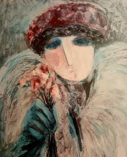 Untitled Female Portrait  Limited Edition Print by Barbara Wood