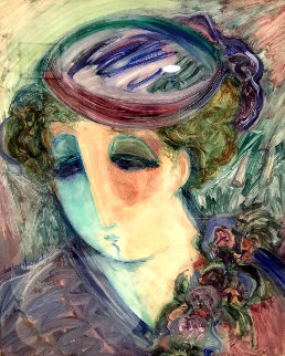 April 35x31 Original Painting by Barbara Wood