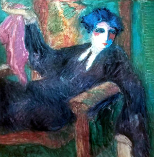 Untitled (Seated Woman) Limited Edition Print by Barbara Wood
