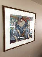 Blue Lady AP 1996 Limited Edition Print by Barbara Wood - 2
