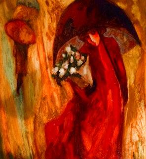 Romance 1980 44x44 Huge Original Painting - Barbara Wood