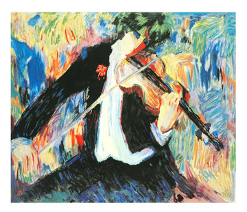 Violinist 1991 Limited Edition Print by Barbara Wood
