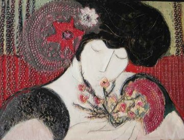 Chi Cho  2000 17x13 Original Painting by Barbara Wood