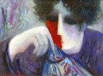 Alegra 1997 27x23 Original Painting - Barbara Wood