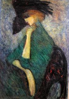 Chapeau 36x24 Original Painting by Barbara Wood