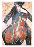 Cellist 2003 Limited Edition Print - Barbara Wood