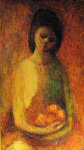 Thursdays Child 37x22 Original Painting - Barbara Wood