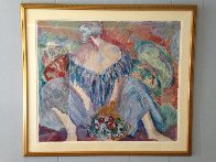 Blue Lady 1989 Limited Edition Print by Barbara Wood - 1