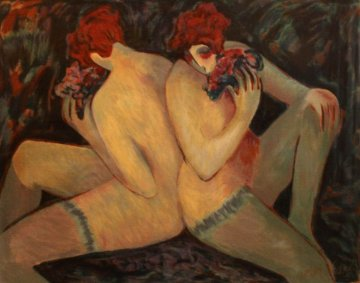Nudes With Flowers  1998 Limited Edition Print by Barbara Wood