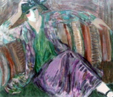 Pensive Woman 2001 Limited Edition Print by Barbara Wood