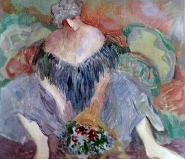Blue Lady 1989 Limited Edition Print by Barbara Wood