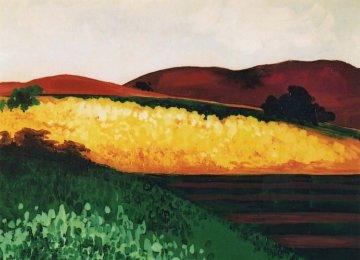 Valley Farmland Original Painting by Marjorie Wood Hamlin