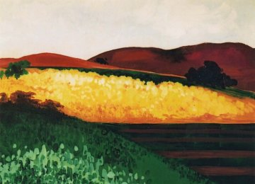 Valley Farmland Original Painting - Marjorie Wood Hamlin