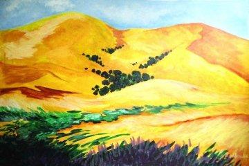 Golden Hills 24x36 Original Painting by Marjorie Wood Hamlin