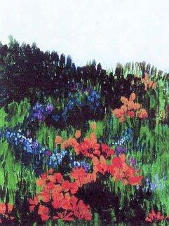 Springtime Hillside 41x31 Original Painting - Marjorie Wood Hamlin