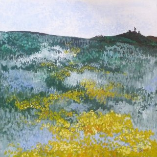 Mustard Fields 30x30 Original Painting by Marjorie Wood Hamlin