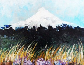 Mountain in Spring 19x22 Original Painting by Marjorie Wood Hamlin