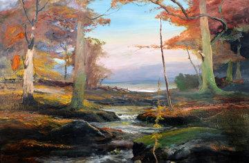 Fall 1979 31x43 Super Huge Original Painting - Robert Wood
