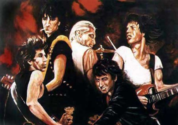 Stones In Sepia 1991 By Ronnie Wood Rolling Stones