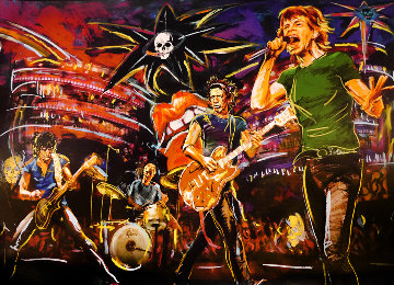 Skulls on Stage II 2009 Limited Edition Print - Ronnie Wood (Rolling Stones)