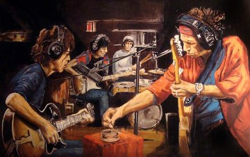 Conversation Piece 2005 Limited Edition Print by Ronnie Wood (Rolling Stones)